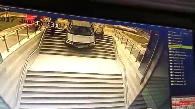 image confondre-entree-parking-immeuble-voiture