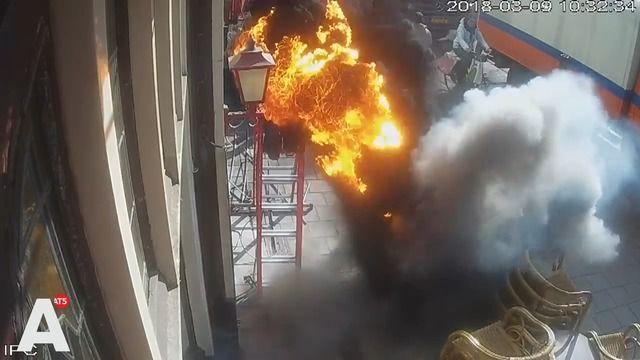 image explosion-sol-brule-homme
