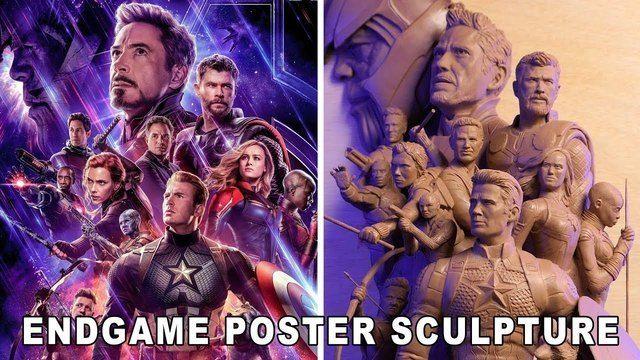 image sculpture-personnages-poster-avengers-endgame