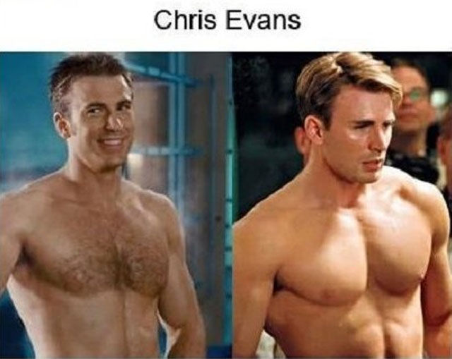 acteurs-transformation-corps-chris-evans
