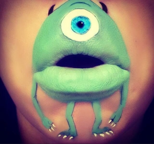 bouche-maquillee-monstre-vert