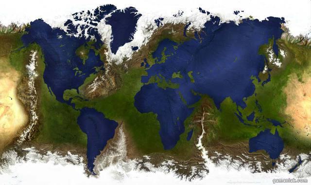 carte-monde-avec-terre-eau-inverses