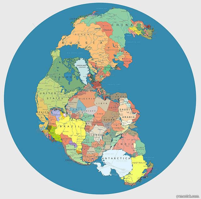 carte-monde-pangea