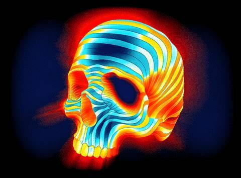 squelette-clignote-rouge-bleu