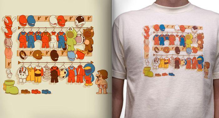 tshirts-gamers-armoire-mario