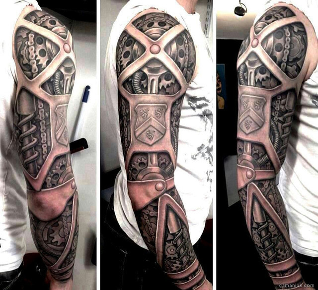 tatouage-bras-robotique