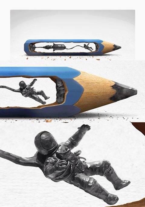 sculpture-astronaute-crayon