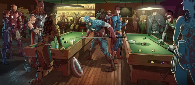 superheros-billard