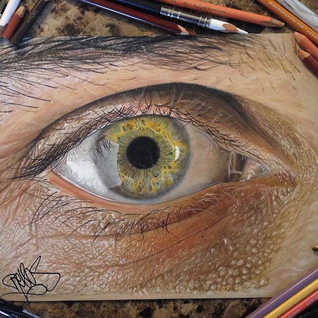 oeil-realiste-peinture