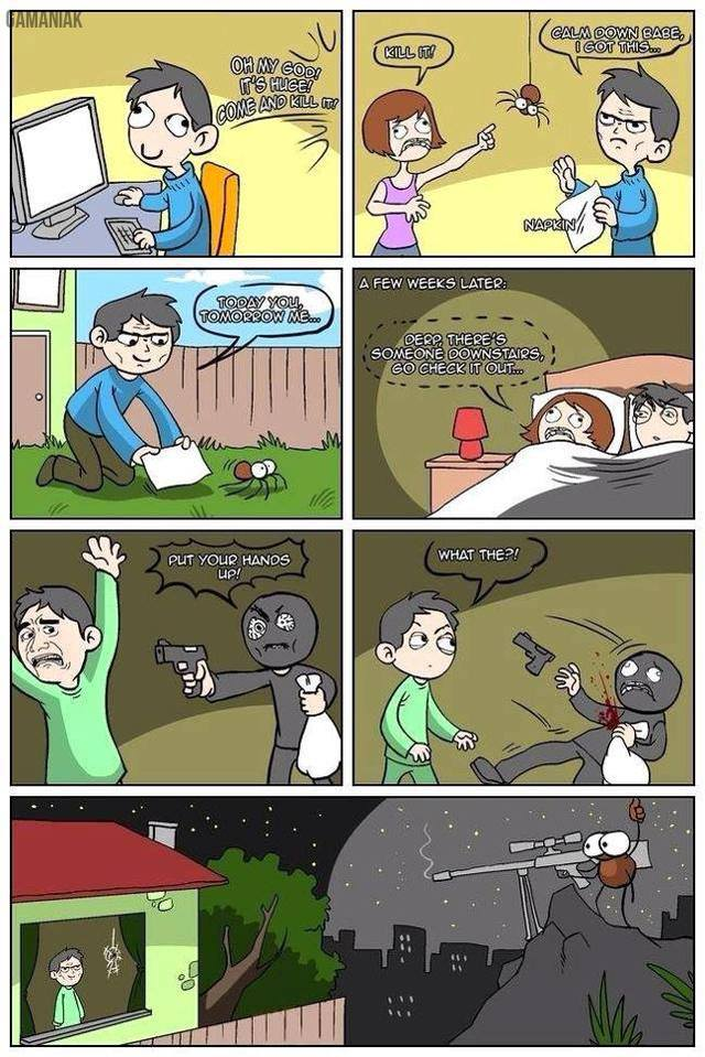 homme-sauve-araignee-sniper