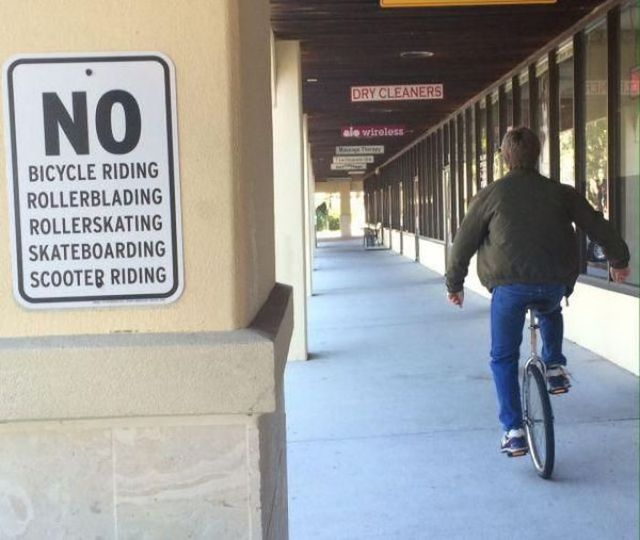 no-unicycling