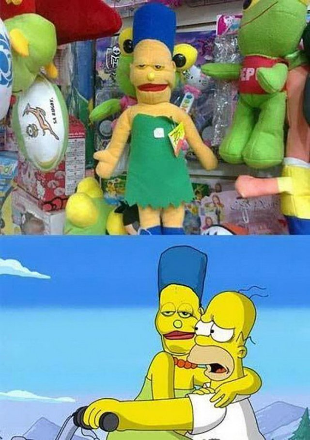 poupee-marge-simpson-defiguree