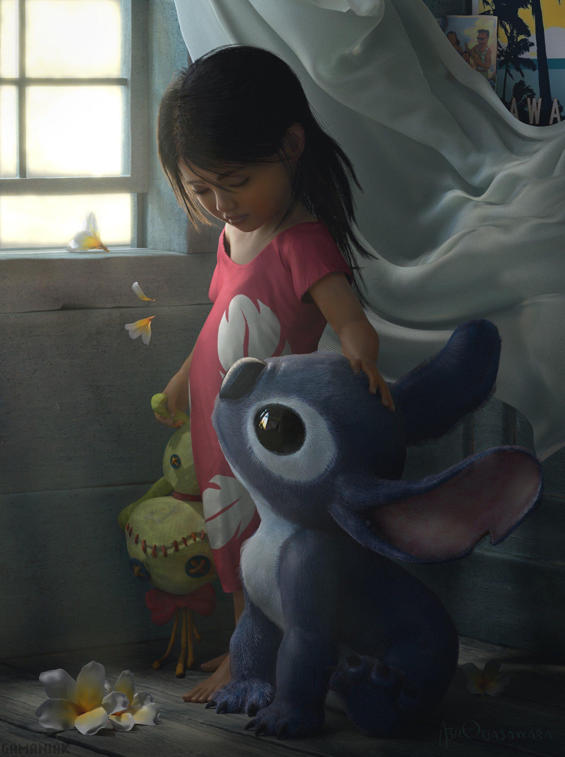 Lilo Et Stitch En Dessin Realiste