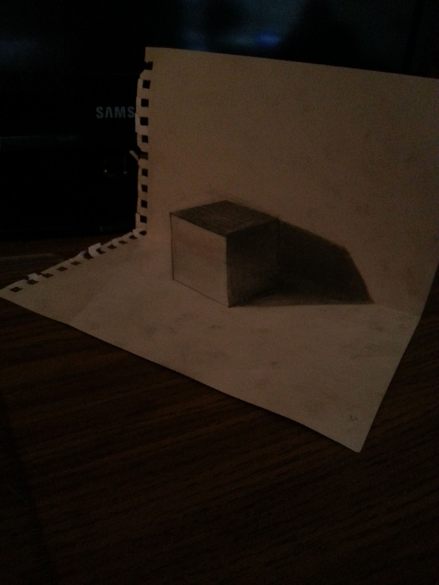 cube-3d-avec-une-feuille