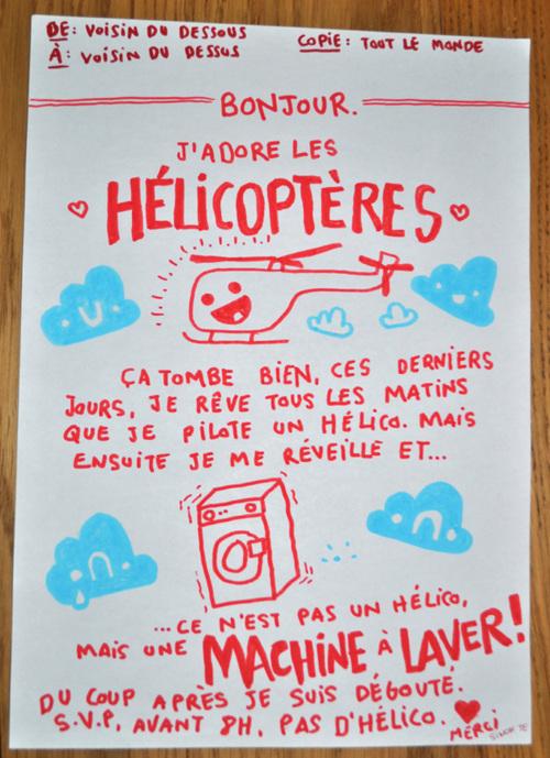 Image Bonjour, j'aime les hélicoptères