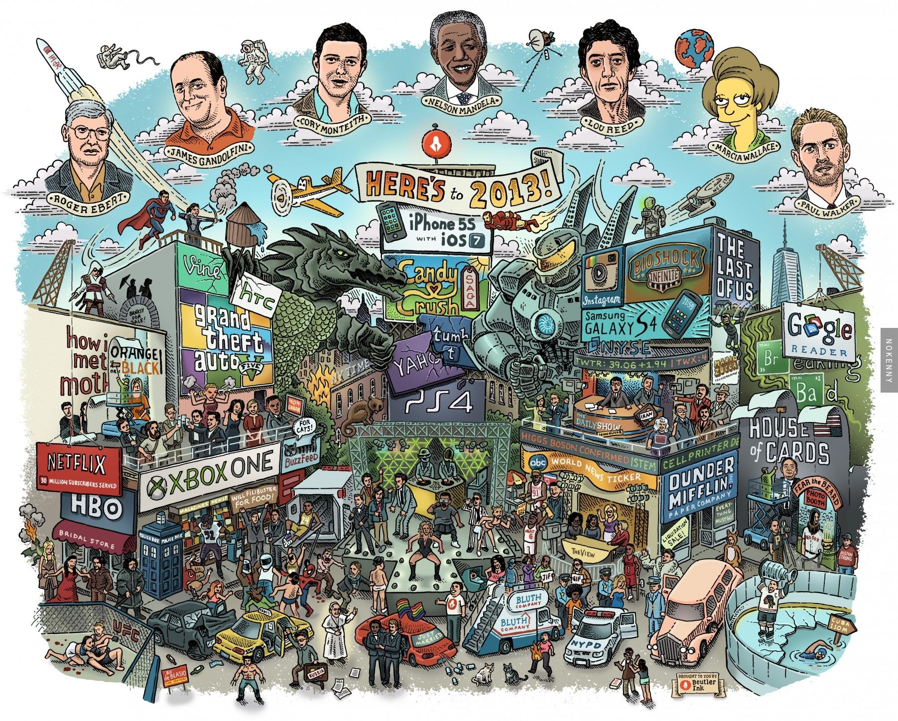 Image L'année 2013 en une image